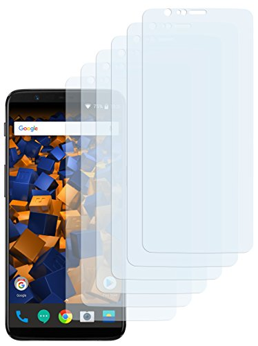 mumbi Schutzfolie kompatibel mit OnePlus 5T Folie klar, Bildschirmschutzfolie (6x)