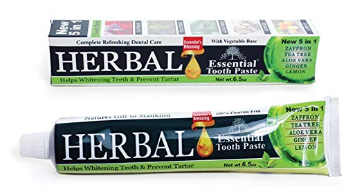 Bargain OFFicial HERBAL ESSENTIAL TOOTHPASTE 100% Fluoride Tubes 6 Free