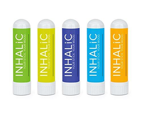 Aromatherapie Set von INHALIC I 5x1,5g Pack Inhalierstifte für jede Situation I Natürliche Duftkombinationen für Konzentration, zum Abnehmen, Schlafen, mehr Energie & gegen Erkältungen