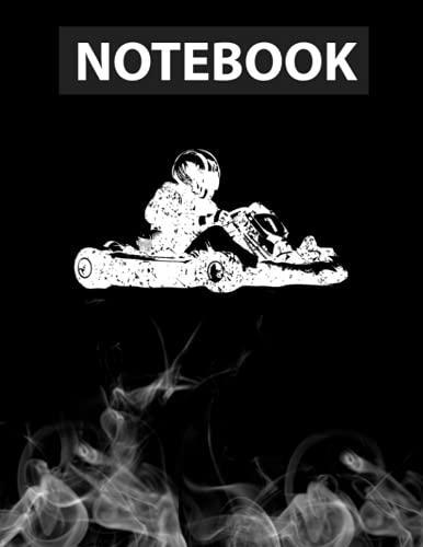 Go-Kar Kart Racing Go-Cart Karting For Men Kids Journal Notebook / Greeting Card Alternative / 130 Pages 8.5''x11'