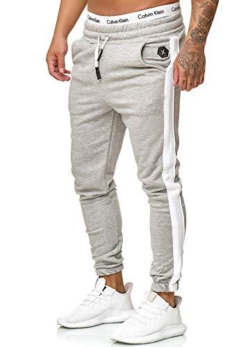 Code47 - Pantalones de chándal para Hombre Gris S