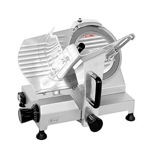 Zica 10' Chrome-plated Carbon Steel Blade Electric Deli Meat Cheese Food Ham Slicer Commercial and for Home use ZBS-10A