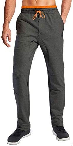 Wohthops Sweatpants for Men Big and Tall with Pockets Open Bottom Jogging Pants Men Slim Fit product image