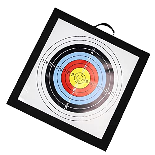 Portátil Tiro con Arco Blanco De La Flecha, Al Aire Libre De La Paja del Tiro Al Arco Flecha Accesorios De Destino De Espuma Eva Flecha Panel De Arco De Tiro con Arco Negro Target