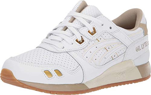 ASICS Women's Gel-Lyte III Shoes, 5.5M, White/White