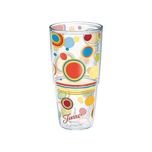 Tervis Fiesta Insulated Tumbler, 24oz - without lid, Poppy Dots