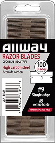 ALLWAY Single Edge Razor Blades, 100-Pack