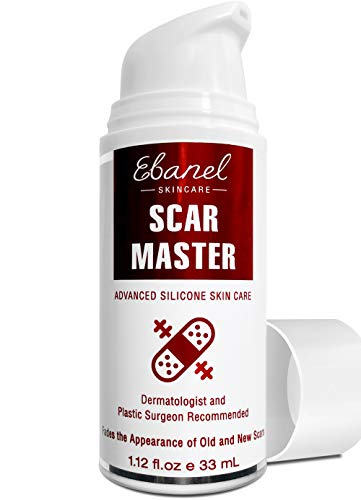 Ebanel Silicone Scar Gel with Onion Extract, Emu Oil, Vitamin E, Medical-Grade Scar Removal Cream for Old & New Acne Scars, Burn Scars, Surgical Scars, Injuries, Stretch Marks, C-Section, Insect Bites