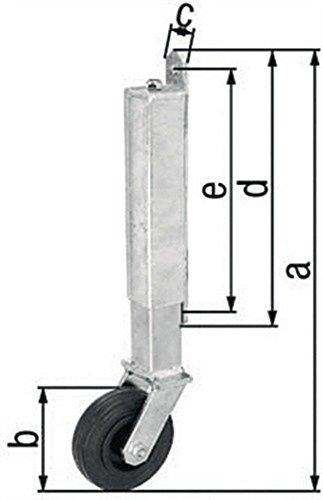 Torlaufrolle 400xØ100x30x255x225mm Stahl roh feuerZN