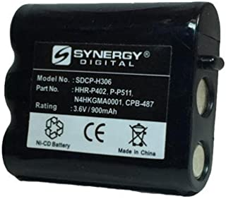 Synergy Digital Cordless Phone Battery Compatible For Panasonic KX-TG2730 Cordless Phone Ni-CD, 3.6 Volt, 900 mAh - Ultra Hi-Capacity - Works WIth Panasonic P-P511, Type 24 Rechargeable Battery