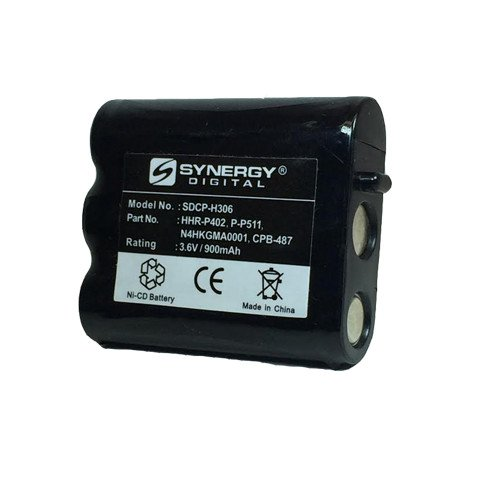 Synergy Digital Cordless Phone Battery, Works with Panasonic KX-TG2730 Cordless Phone, (Ni-CD, 3.6V, 900 mAh) Ultra Hi-Capacity, Compatible with Panasonic P-P511 Battery