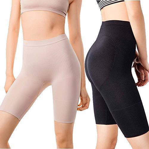 +MD Women's Tummy Control High Waist Shapewear Panties Mid Thigh Rear...