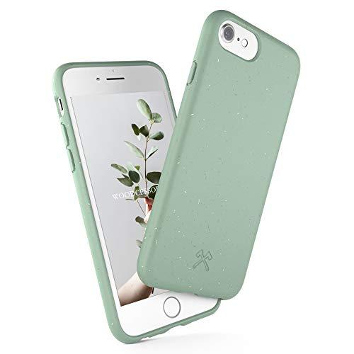 Woodcessories - Antibakterielle Bio Hülle kompatibel mit iPhone SE 2020 Hülle Mint grün, iPhone 8 Hülle Mint grün, 7/6 s - Plastikfrei, nachhaltig