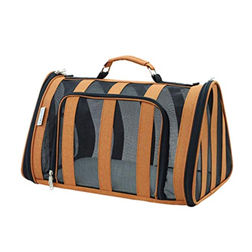 TIANYOU Pet Travel Carrier Breathable Cat Bag Dog Cage Travel Pet Carrier Travel Kennel for Small Animal Carrier for Travel Durable/Orange / 47x30x28cm