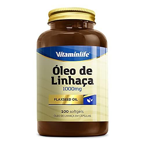 Flaxseed Oil Óleo de Linhaça 1000mg - 100 Cápsulas - Vitaminlife, VitaminLife