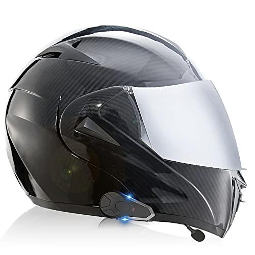 Casco de motocicleta Bluetooth Casco certificado ECE/DOT Integrado Mp3 FM 2-3 Personas Función de llamada instantánea Travel Essential Interflow 3,S