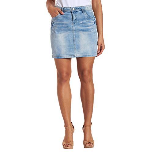 manguun Jeans-Minirock, Baumwoll-Mix, Five-Pocket-Stil Blau 40