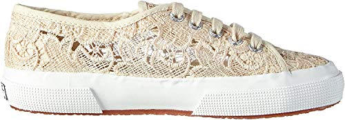Superga 2750 Macramew, Damen Sneakers, Elfenbein (Ivory), 38 EU (5 UK)