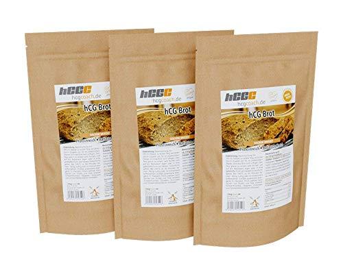 Brotbackmischung Mit Nur 1,4g Kohlenhydrate Pro 100g | hCG-Diät geeignet | 3er Pack (3 x 250 g) 3 x Goldene Brotzeit
