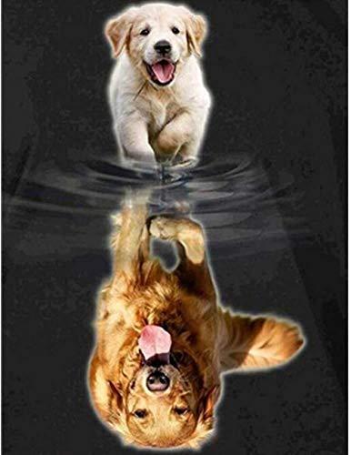 A-Generic DIY 5D Mosaico imágenes de Animales Taladro Completo Kit de Pintura de Resina de Diamante Cuadrado decoración de Sala de Dibujo de Diamantes de imitación-Perro ZQF413
