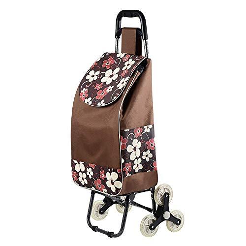 IF.HLMF Carro de la compra para escalar piso plegable para personas mayores de edad, carrito de la compra plegable