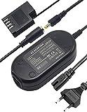Ami.Todfo DMW AC8 - Fuente de alimentación para cámara con adaptador de batería DCC12 para Panasonic Lumix DMC-GH3 DMC-GH4 DMC-GH3K DMC-GH4K DC-GH5 DC-G9 (8,4 V)