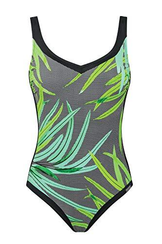Charmline Damen Badeanzug Green Vibe Style 1437 (Bamboo-Green, 44C)