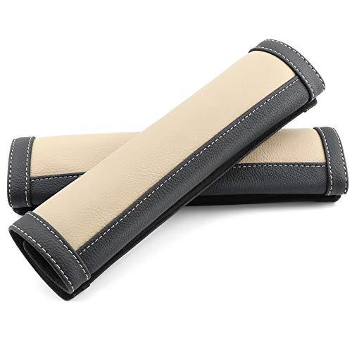 COFIT Juego de 2 Almohadillas para Cinturón de Seguridad Beige