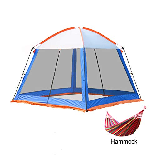 3x3m Camping Gazebos 5-8 persone,Heavy Duty Gazebo Garden Pavilion Party Tent Event Shelter, Waterproof Canopy Lightweight,Hiking and Barbecue,Blue