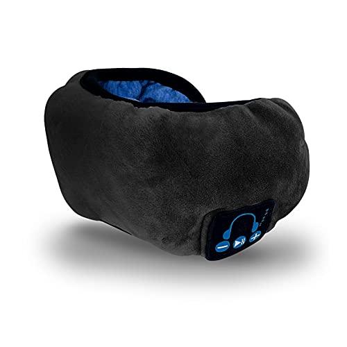 Schlaf Kopfhörer Ohrstöpsel Sport Stirnband Kopfhörer mit Ultradünnen HD Stereo Lautsprecher,Bluetooth Schlaf Kopfhörer Sleepphones für Seitenschläfer, Flugreisen, Meditation und Entspannung schwarz