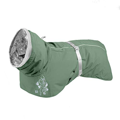 Hurtta Extreme ECO Warmer Hundemantel, Winterjacke für Hunde, Hedge Grün 55 cm