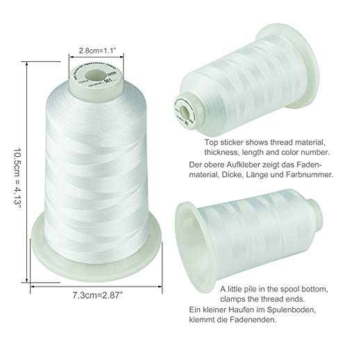 Simthread 42 Options Various Assorted Color Packs of Polyester Embroidery Machine Thread Huge Spool 5000M for All Embroidery Machines (Silver Grey Dark Grey)