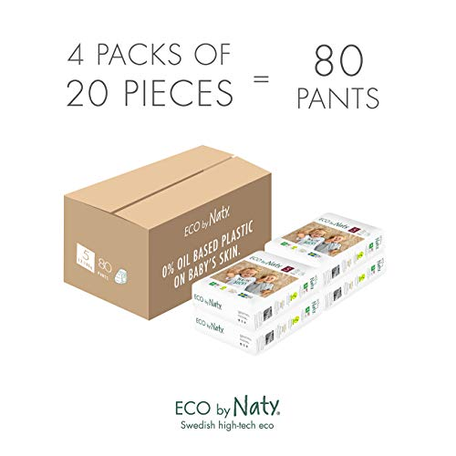 Couches-culottes d'apprentissage Eco by Naty, Taille 5, 80 couches, 12-18 kg, Un mois...