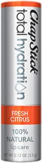 ChapStick Total Hydration (Fresh Citrus Flavor, 1 Blister Pack of 1 Stick) Flavored Lip Balm Tube, 100% Natural Lip Care, Clinically Proven, 0.12 Ounce