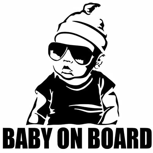 LSPLSP Baby On Board Intagliato Decal Bambino In Auto Avvertimento di Sicurezza Auto Posteriore Corpo Impermeabile Baby Sticker Nero