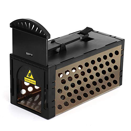 xingxing Industrial Hardware - Rampa para ratones desmontable, trampa para roedores y ratas, ratones, roedores, repeler ratas (color: marrón)
