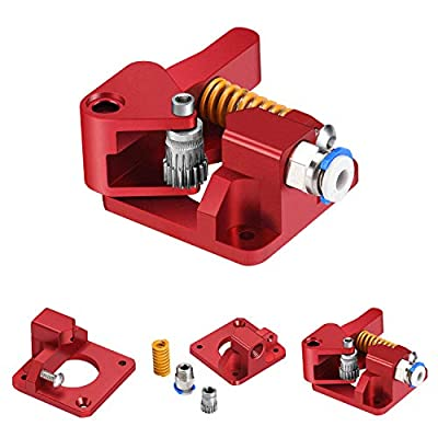 TUZUK Dual Drive Extruder, Aluminum Dual Gear Extruder Upgrade Kit for Tornado/CR-10/ CR-10S/ CR-10S Pro/Ender 3/Anet A8 Anycubic Mega Wanhao i3 (right hand)