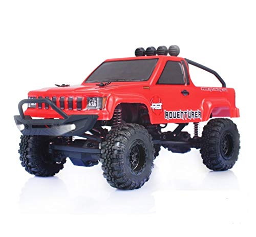 RGT RC Crawlers 1/24 Scale 4WD Off Road RC Car 4x4 Mini Monster Truck RTR LiPo Rock Crawler Adventurer with Lights (red)