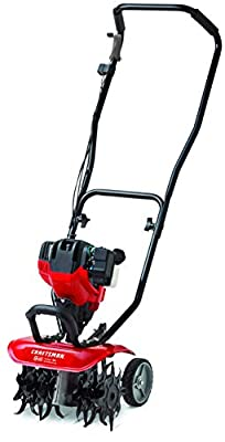 CRAFTSMAN CMXGVAMKC30A 12-Inch 30cc 4-Cycle Gas Powered Cultivator/Tiller, Liberty Red