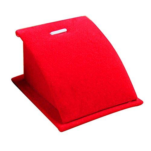 Momangel Samt Schmuckständer für Halsketten und Anhänger, Interne Hartfaserplatte, Externe Verpackung, rot, Einheitsgröße