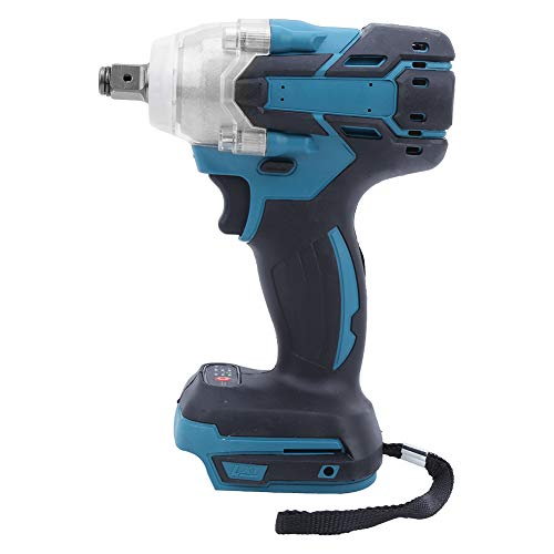 Electric Screwdriver, 21V Lithium Battery Rechargeable Brushless Power Drill, Handheld Large Torsion Impact Wrench, for Makita Battery, 1280W, 3000rpm