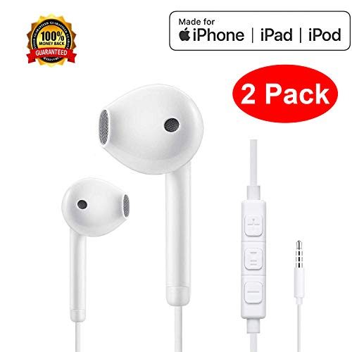 Earbuds, iPhone Earphone with 3.5mm Jack Headphone Plug,Earphones Headset with Mic Call+Volume Control for iPhone 6 Earbuds Compatible with iPhone 6s/6plus/6/5s Earbuds