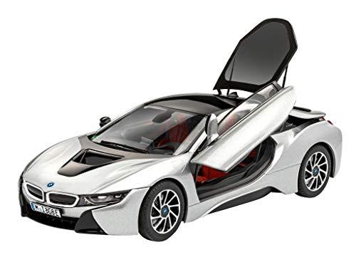 Revell 67670 Model Set BMW i8 originalgetreuer Modellbausatz für Fortgeschrittene, mit Basis-Zubehör, unlackiert