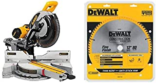 "DEWALT DWS779 12"" Sliding Compound Miter Saw with DEWALT DW3128 Series 20 12-Inch 80.."
