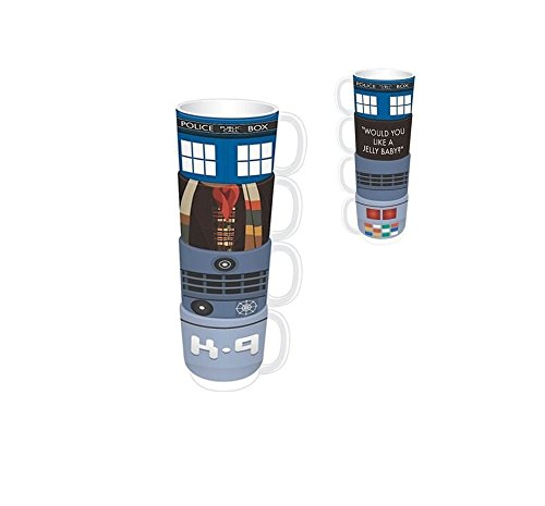 Preis am Stiel ® Stacking Mugs Set 4 - Dr Who