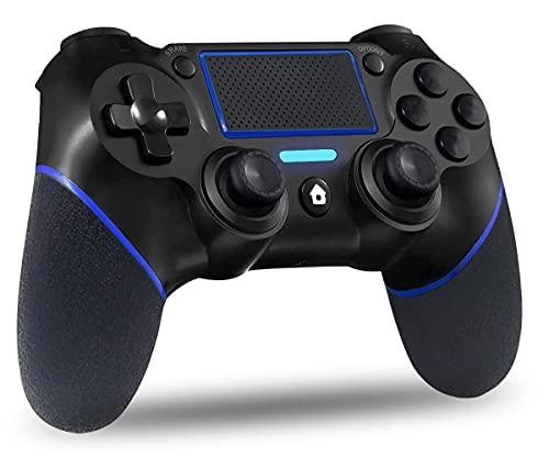 Mando PS4 Inalámbrico, GXGPOW Bluetooth Mandos Gamepad Joystick para Playstation 4 PS4/PS4 Slim/PS4 Pro con Daul Motor Vibration | 600mAh Battery |3.5mm Audio Jack Speaker |Touch Panel(Blue)