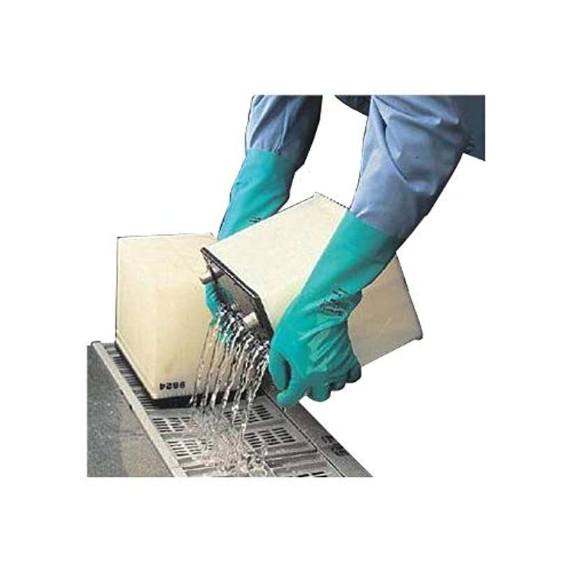 Ansell Healthcare 102946 Sol-Vex Heavy-Duty without Lining Solvent Resistant Glove, Size 10 (Pack of 12)