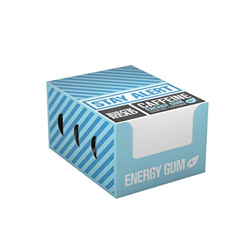 BLOCKHEAD Energy Gum Peppermint 120 pieces | Caffeine chewing gum with Vitamins B1, B6 & B12 and Ginseng | Sugar-free | Calorie-free | Vegan