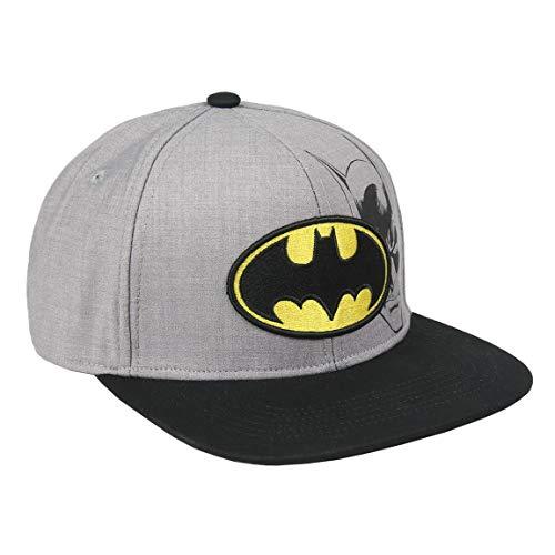 Artesania Cerda Jungen Gorra Visera Plana Logo Batman Schirmmütze, Grau (Gris Gris), Medium (Herstellergröße: 56)