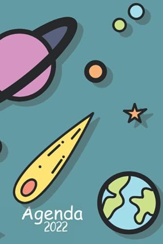 Agenda 2022: Agenda Espacio 2022 . 1 día = 1 página . Grande Planificador Anual 2022 12 Meses